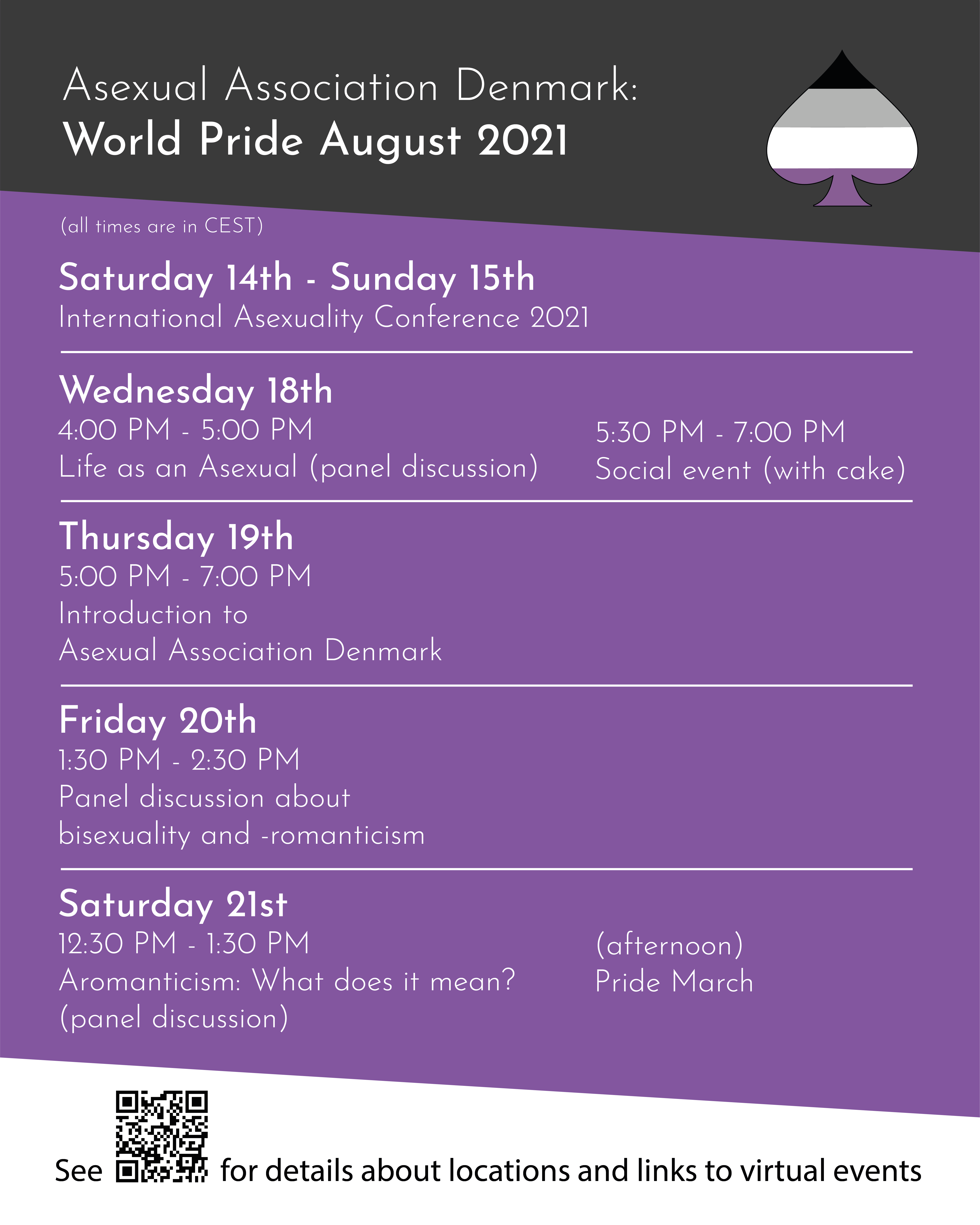 FAD's World Pride activities - text available below
